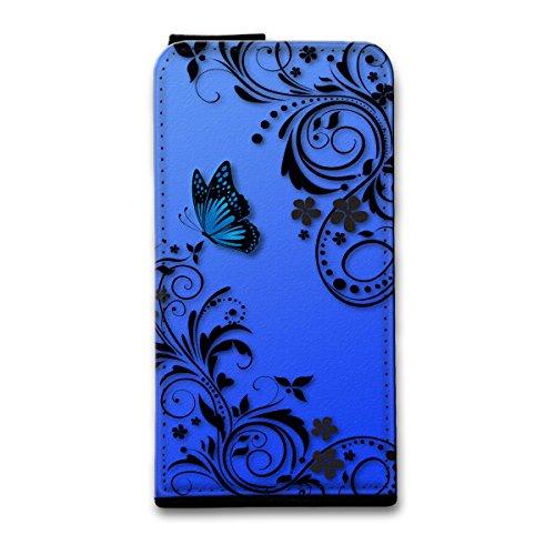 Flip Style Vertikal Handy Tasche Case Schutz Hülle Schale Motiv Foto Etui für Apple iPhone 5 / 5S - Flip V24 Design6 Design 3