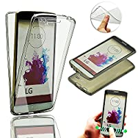 LG G3 Case Cover [Front and Back Full Protection],Vandot Shockproof Cover Soft TPU Silicone Slim Fit Scratch Resistant All Round Full Body 360 Degree Protective Case for LG G3-Transparent Black