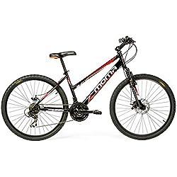 "Bicicleta Montaña Mountainbike 26"" BTT SHIMANO, doble disco y suspensión"
