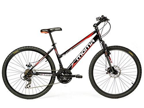 Moma - Bicicleta Montaña Mountainbike 26' BTT SHIMANO, doble disco y suspensión
