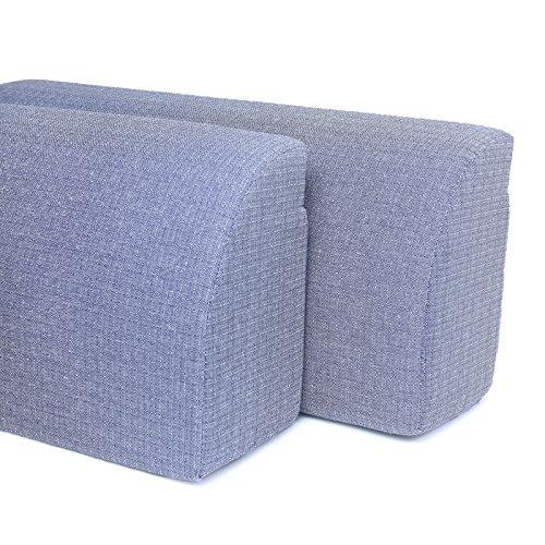 Spalliera per letto a ponte , trasforma il letto in un divano. due spalliere + coperta in omaggio . prodotto da resingomm , made in italy . colore blu bicolore