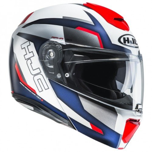 HJC casco Moto Rpha 90 rabrigo MC1, color blanco/azul/rojo, talla XL