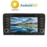 """XISEDO Android 8.0 Autoradio 7"""" Voiture Radio à Écran Tactile 2 Din 8-Core RAM 4G ROM 32G Car Radio Système de Navigation GPS avec Lecteur de DVD pour Audi A3 2003-2011 (Autoradio)"""