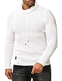 3cbfde902 Red Bridge Men s Roll Neck Sweater Knitted Slim Fit Turtleneck Basic Ribbed  Jumpers
