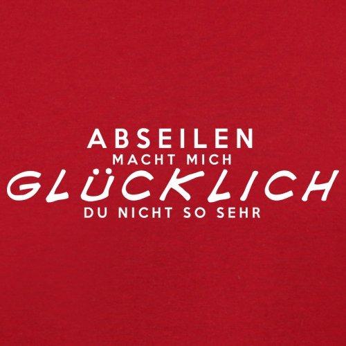 Abseilen macht mich glücklich - Herren T-Shirt - 13 Farben Rot