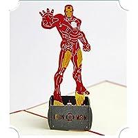 BC Worldwide Ltd Cartolina d'auguri pop-up 3D a mano Iron Man compleanno natale anniversario di matrimonio halloween festa del papà festa della mamma regalo di San Valentino