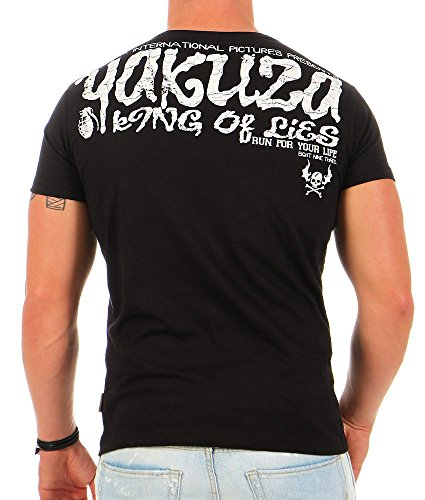 Yakuza Uomo Maglieria/T-Shirt King Of Lies Nero