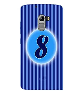PrintDhaba Numerology Number 8 D-2563 Back Case Cover for LENOVO VIBE K4 NOTE (Multi-Coloured)