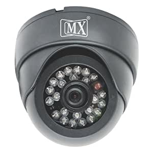 "MX CCTV CAMERA 1/3"" SONY 420TVL, 3.6mm LENS, PLASTIC DOME CAMERA, 24 IR LED, 20m DISTANCE, BLACK HOUSING - MX S 102"