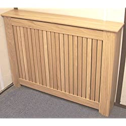 Cubierta para radiador, listones de roble macizo pequeña)
