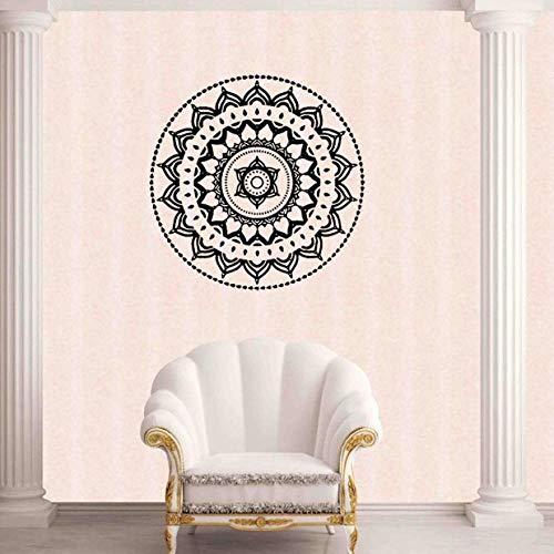 Wohnkultur Mandala Blume Indische Schlafzimmer Wandtattoo Kunst Aufkleber Wandhaupt Vinyl Familie wandaufkleber Home Deco ~ 1 114 * 114 cm (Baby-namen-buch Indischen)