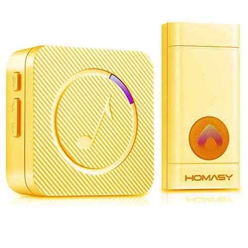 Campanello wireless senza fili impermeabile IP55, Victsing campanello...