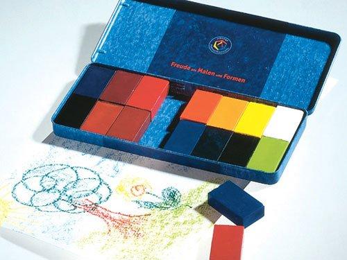 Bausteintyp Grundfarben (Bienenwachs) Crayons Irokan mit 16 Stockmar (Stockhausen Marrs) Bienenwachs (Japan-Import)