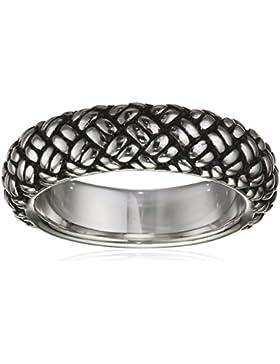 caï men Herren Ring 925 Sterling Silber rhodiniert und schwarz lackiert