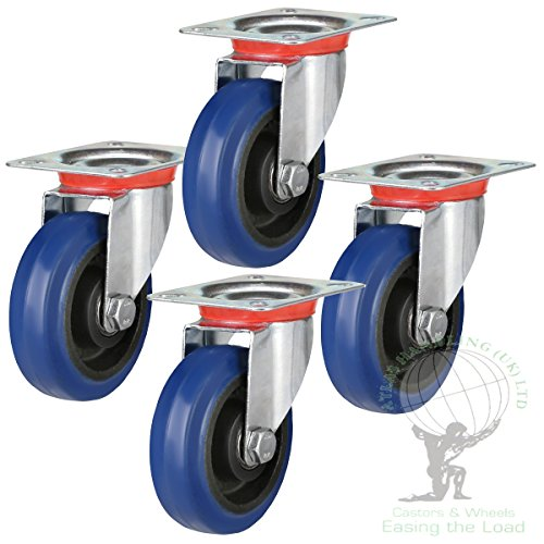 Flight Case 100mm Lenkrollen Set bis zu 450kg Kapazität pro Set.