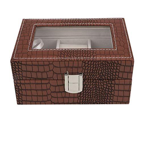 KEYREN Tragbare große Kapazität Uhrenbox Schmuck Aufbewahrungsbox
