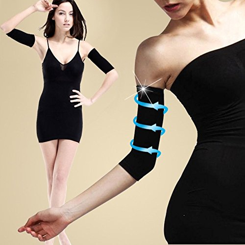 Thin Arms Forearms Hands Shaper Burn Fat Belt Compression Arm Slimming Warmer 420 D