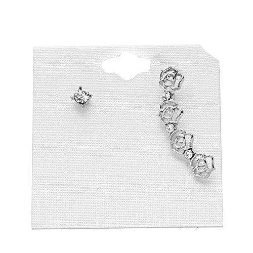 rosemarie-collections-da-donna-ear-cuff-cingolato-e-orecchini-set-rosa-sparkle