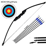 Outdoor Recurve Bow and Arrow Set Archery Training Toy(40LB,5×ÁArrows,6×ÁTarget Faces)