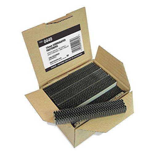 Tacwise Boîte de 1 500 Attaches Ondulées 15mm Acier Galvanisé