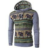 Ieason Men Top, Men's Autumn Winter National Style Print Long Sleeve Hoodie Top Blouse