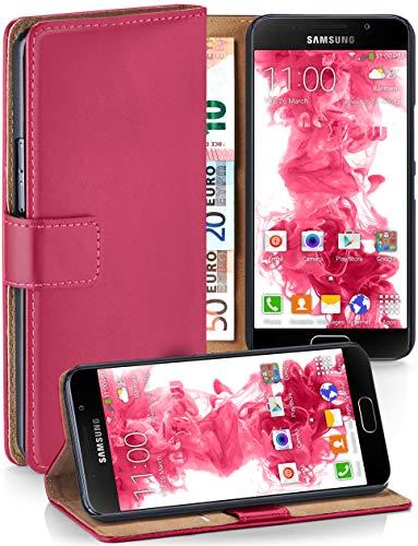 MoEx® Booklet mit Flip Funktion [360 Grad Voll-Schutz] für Samsung Galaxy A5 (2016)   Geldfach und Kartenfach + Stand-Funktion und Magnet-Verschluss, Pink