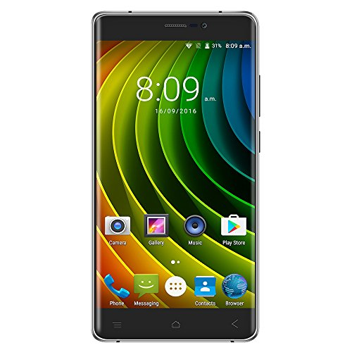 Creev Mark V Plus 4G LTE Smartphone 5.5 Zoll IPS LCD Schirm HD 1280x720 Viererkabelkern MTK6737 1,3GHz 2GB RAM 16GB ROM Kamera 8MP 13MP 3000mAh Bluetooth GPS FM Android 6 DoppelSim freigesetzt ohne Vertrag Handy Sim frei (silbernes Grau)