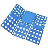Wäsche Faltbrett, Queta Faltbrett für Wäsche Kleidung Flip Fold Kunststoff für T Shirt Pullover Hosen Hemden Kinder 59 x 68 cm Blau