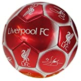 Liverpool FC Official Signature Crest Football (Size 5)