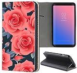 Samsung Galaxy S3 / S3 Neo Hülle Premium Smart Einseitig Flipcover Hülle Samsung S3 Neo Flip Case Handyhülle Samsung S3 Motiv (1257 Rosen Blumen Rot)