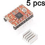 Gaoxing Tech. 5PCS A4988 Stepstick Stepper Motor Driver Module + Heat Sink for 3d Printer Reprap (Pack of 5 Pcs)
