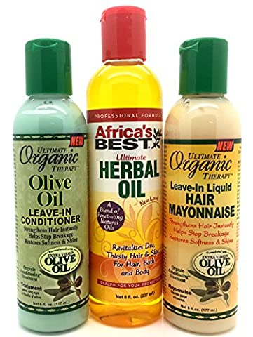 Olive Oil Leave in Conditioner, Ultimate Herbal Oil, Leave in Mayonnaise