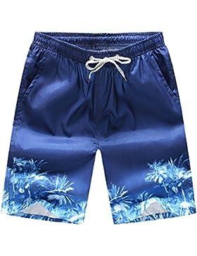 keephen Boardshorts de playa ocasionales con estampado de hombres, bañadores de secado rápido Shorts de playa...