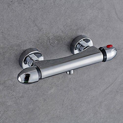 BONADE Duschthermostat Duscharmatur Thermostat Brausethermostat Brausemischer Aufputz Chrom Thermostat-Brausebatterie