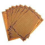 #9: Magideal 8pcs Retro Vintage Flower Frame Stationery Letter Paper Writing Paper #3