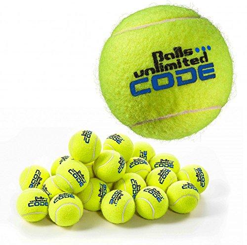 Balls ... unlimited Code Blue Tennisball, Drucklose Trainingsbälle - 60er - Drucklose Tennisbälle