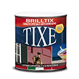 Tixe 104801 Brilltix Smalto a Solvente, Marrone, 750 ml