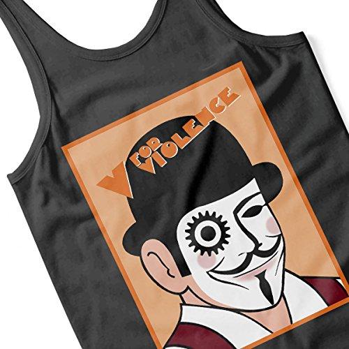 V for Violence A Clockwork Orange Vandetta Men's Vest Black