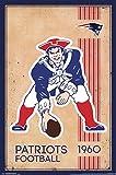 New England Patriots - Retro Logo 14 Poster Drucken (55,88 x 86,36 cm)