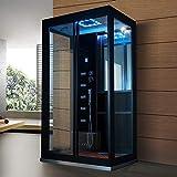 Home Deluxe - Dampfdusche - Black Luxory XL - Maße: 120 x 90 x 220 cm - inkl. komplettem Zubehör - 2