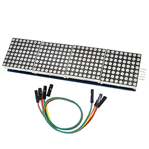 MagiDeal MAX7219 Dot LED Matrix MCU Control Modul LED 4 In 1 Display Modul Für Arduino Led-matrix-display