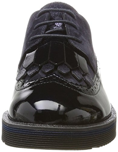 Paul Green 1019011, Escarpins Stringate Oxford Donna Blu (acier Blu)