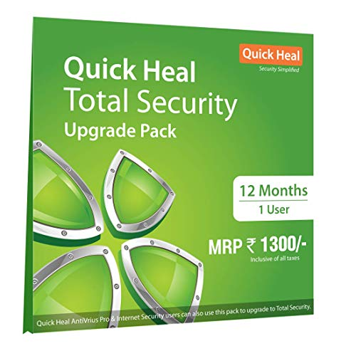 Quick Heal Total Security Renewal Upgrade Silver Pack - 1 User, 1 Year (DVD) (existing Quick Heal subscription required)