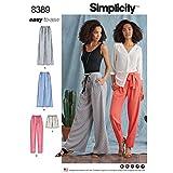 Semplicità modello 8389da donna pantaloni con lunghezza e larghezza varianti...
