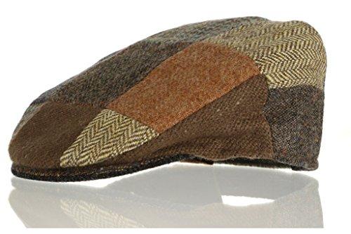 Hanna Hats Vintage Tweed Kinder Patch Cap (Braun Patch, M) -