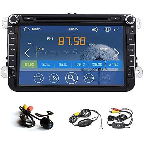 lettore DVD GPS della radio da 8 pollici per Volkswagen VW POLO PASSAT B6 CC TIGUAN GOLF 5 Fabia libero camera + Canbus 1080p Ipod car audio deck caldo di vendita
