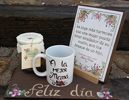 nk Tag der Mutter Original Handgefertigt 1, mit einer persönlichen Nachricht in der Tabelle und ein Flasche Kekse handwerklichen riquísimas ()