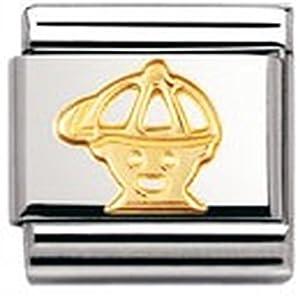 Nomination Composable Classic Fun Edelstahl und 18K-Gold (Junge) 030110