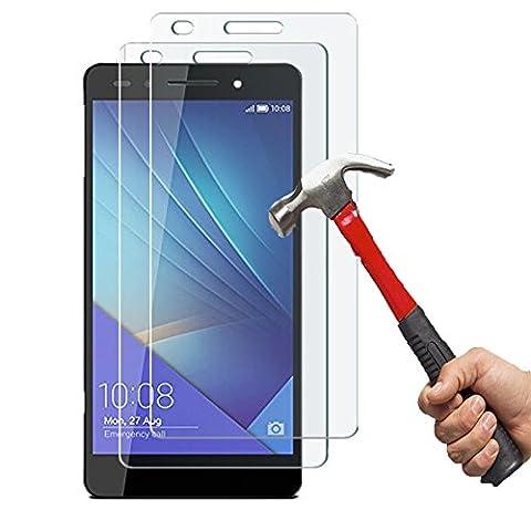 Film De Protection En Verre Trempe Pour Honor 7 - Huawei Honor 7 Protection écran[Lot de 2]Ohero