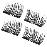 Magnetische falsche Wimpern, 4PCS / SET Leichte natürliche starke Augen Lashes 3D magnetische handgemachte dauerhafte Frauen starke falsche Wimpern Werkzeug 001